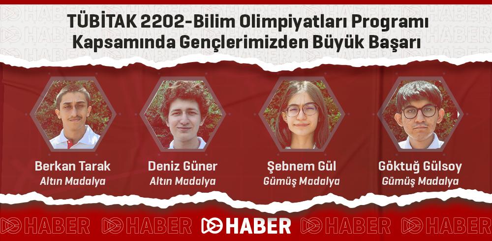 TÜBİTAK 2202-Bilim Olimpiyatları Programı Kapsamında Gençlerimizden Büyük Başarı