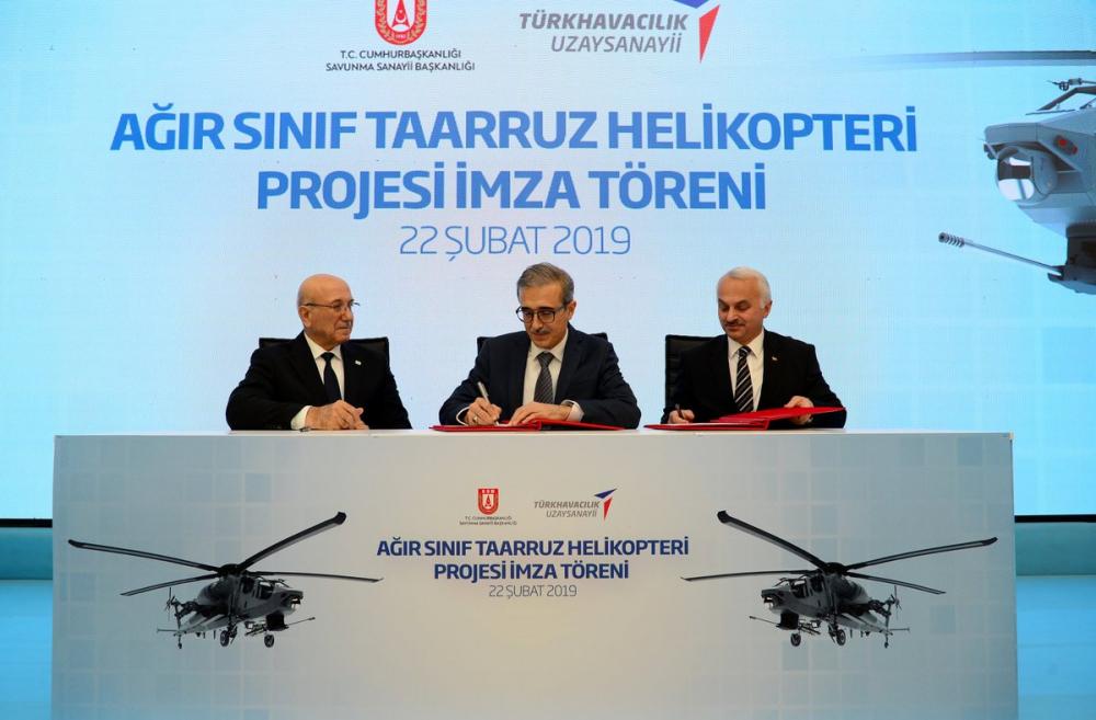 Ağır Sınıf Taarruz Helikopteri Projesi'nde İmzalar Atıldı